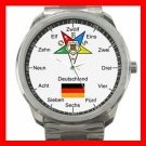 Order Of The Eastern Star Germany Silvertone Sports Metal Watch 103