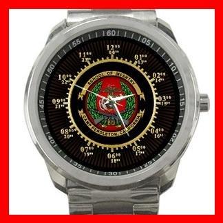 School of Infantry U.S. Military Silvertone Sports Metal Watch 105