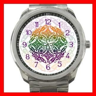 Celtic Mandala Emblem Hobby Silvertone Sports Metal Watch 108