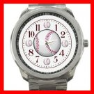 Baseball Balls Sports Game Silvertone Sports Metal Watch 112