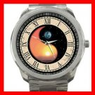 Sun and Moon Sunset Nature Silvertone Sports Metal Watch 118