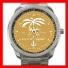 Afrika Korps Germany Military Army Silvertone Sports Metal Watch 129