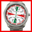 Ships Radio Room Shipboat Chart Silvertone Sports Metal Watch 130