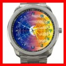 Zodiac Signs Moon and Sun Hobby Silvertone Sports Metal Watch 134