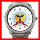 Medical Shied Rescue Care Silvertone Sports Metal Watch 151