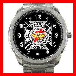 Black Knights Templar Masonic Silvertone Sports Metal Watch 158