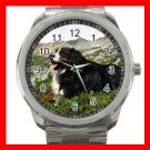 BERNESE MOUNTAIN DOG PET Silvertone Sports Metal Watch 172
