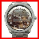TRAIN B & O F-7 DIESEL LOCO Silvertone Sports Metal Watch 179