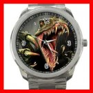 DINOSAUR T- REX Silvertone Sports Metal Watch 181