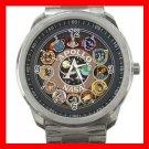NASA APOLLO MEDALS Silvertone Sports Metal Watch 185