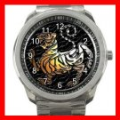 Shotokan Karate Tiger Hobby Silvertone Sports Metal Watch 186