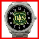 U.S. Forest Service, USFS Silvertone Sports Metal Watch 187