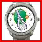 LACROSSE STICK BALL GAME Silvertone Sports Metal Watch 193