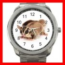 SUGER GLIDER PET ANIMALS Silvertone Sports Metal Watch 195