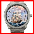 Tall Ships On the Sea Silvertone Sports Metal Watch 196