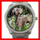 WEIMARANER GREY GHOST DOG PET Silvertone Sports Metal Watch 198