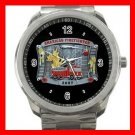 American Firefighter Fire Fighter Silvertone Sports Metal Watch 199