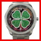 Rub For Luck Clover Casino Fun Silvertone Sports Metal Watch 208