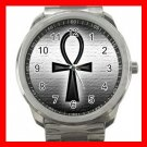 Egypt Pharaoh Ankh Life Eternal Silvertone Sports Metal Watch 216