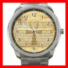 Egypt Pharaoh Ankh Life Eternal Silvertone Sports Metal Watch 217