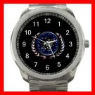 STAR TREK FEDERATION OF PLANETS Silvertone Sports Metal Watch 220