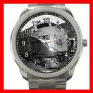 JERSEY CENTRAL LINES DIESEL ENGINE ROU Silvertone Sports Metal Watch 236