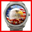 AMERICAN FLAG BALD EAGLE Silvertone Sports Metal Watch 237