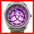 PURPLE WICCA WITCH PAGAN MOONS Silvertone Sports Metal Watch 246