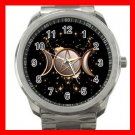 GOLD WICCA PAGAN WITCH MOONS Silvertone Sports Metal Watch 248