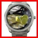Tennis Still Life Silvertone Sports Metal Watch 254