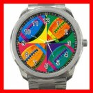 Football Balls Game Fun Silvertone Sports Metal Watch 257