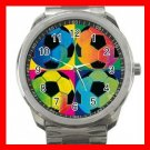 Soccer Balls Game Fun Silvertone Sports Metal Watch 258