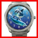 Dolphins Play Marine Fun Silvertone Sports Metal Watch 261