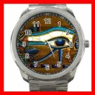 The Eye Of Horus Silvertone Sports Metal Watch 272