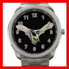 Bat Flying In Dark Bird Silvertone Sports Metal Watch 275