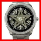 Wicca Pentagram Pentacle Silvertone Sports Metal Watch 277