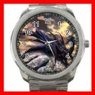 Black Dragon On Rock Myth Silvertone Sports Metal Watch 278