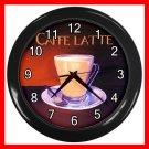 Caffe Latte Coffee Beverage Decor Wall Clock-Black 045