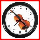 Violin Music Instrument Hobby Decor Wall Clock-Black 049
