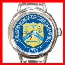 US Department Of Treasury Round Italian Charm Wrist Watch 647