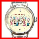Thank You Teacher School Round Italian Charm Wrist Watch 649