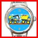 Tonka Truck Toy Round Italian Charm Wrist Watch 659