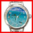 Tropical Fish Sea Beach Round Italian Charm Wrist Watch 667
