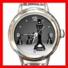 Chess King Checkmate Strategy Round Italian Charm Wrist Watch 671