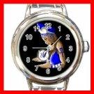 Zeta Phi Beta Round Italian Charm Wrist Watch 678