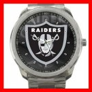 Oakland Raiders Silvertone Sports Metal Watch 32903587