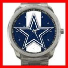 Dallas Cowboys Football Silvertone Sports Metal Watch 32903604