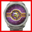 Minnesota Vikings Football Silvertone Sports Metal Watch 32903618