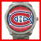Montreal Canadiens Hockey Silvertone Sports Metal Watch 32903737