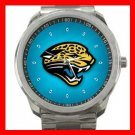 Jacksonville Jaguars Football Silvertone Sports Metal Watch 32903742